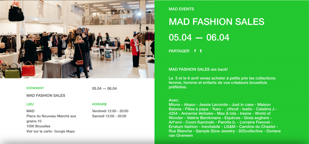 Artemi Slow shopping fashion sales Mad bruxelles
