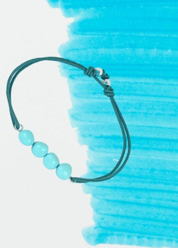 Bracelet argent turquoise creatrice belge de bijoux personnalisable