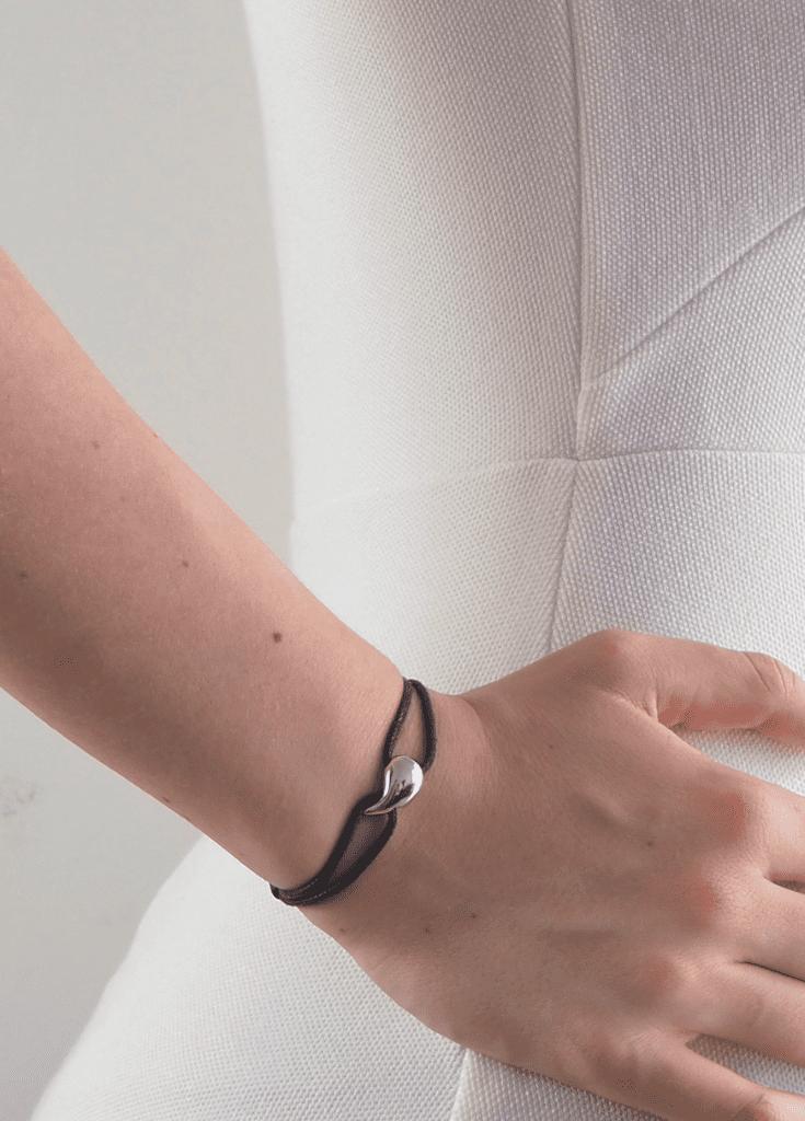 Bijoux argent femme bracelet goutte argent massif 925