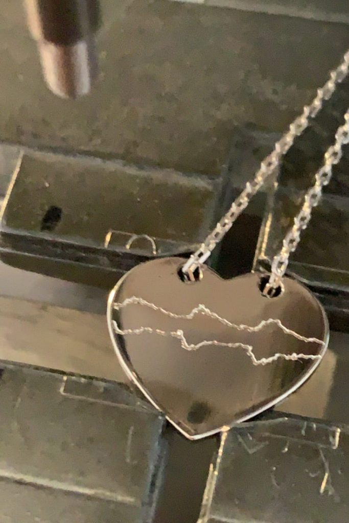 Jewelry Heart pendent engraving silver, belgium brand